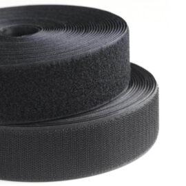 Ecovel Siyah Cırt Bant, Yumuşak/İlmek 5cmx25mt ''