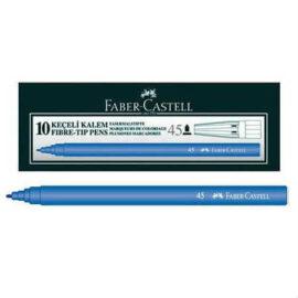 Faber-Castell Mavi Keçeli Kalem 10'lu Kutu ''
