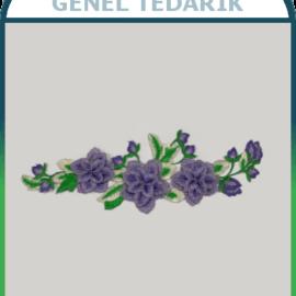 Mor Bahar Çiçeği Aplike Dantel (Adet) ~