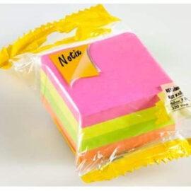 Notix Kendinden Yapışkanlı Not Kağıtları, Dört Renkli - 300 Yaprak (50mm x 50mm) ''