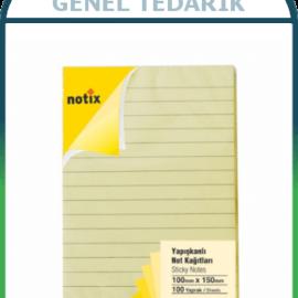 Umix Notix Pastel Sarı Yapışkanlı Not Kağıdı, Çizgili 100x150mm - 100 yaprak ~