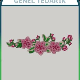 Pembe Bahar Çiçeği Aplike Dantel (Adet) ~