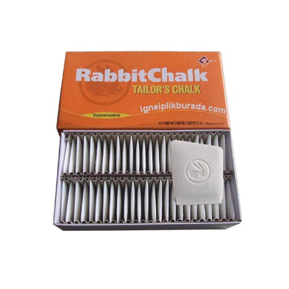 RabbitChalk ( Tavşan ) Beyaz Çizgi Taşı 50'li ''