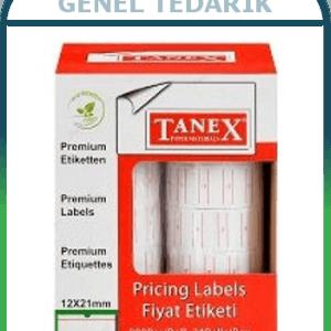 Tanex, Motex Fiyat Etiketi - 12x21mm (1 Rulo) ~