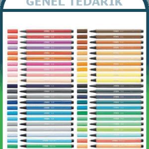 Stabilo Pen 68 Keçeli Kalem Çeşitleri (Adet) ~