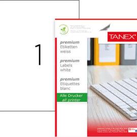 Tanex Lazer Etiket A4  210mmx297mm 100yp ''