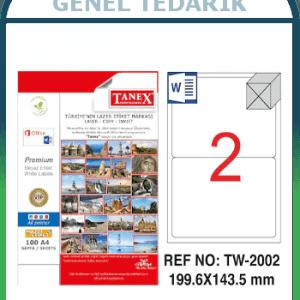 Tanex, TW-2002 Laser Etiket - (199,6x143,5) *
