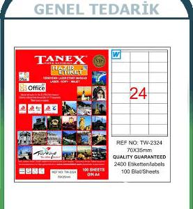 Tanex, TW-2324 Laser Etiket - (70x35) *