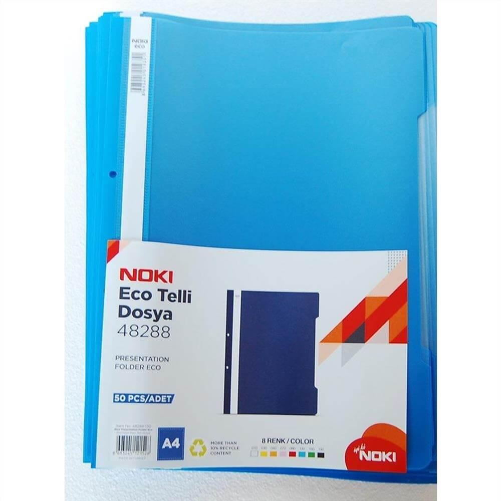 Noki Eco Telli Dosya - Mavi (50 Adet) ''