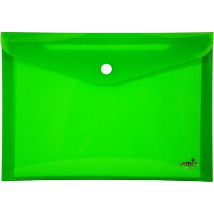 Umix A6 Çıtçıtlı Zarf Dosya - Yeşil Neon (U1124N-YE) ''