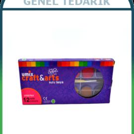 Umix Craft and Arts Büyük Tablet Sulu Boya - 12'li *