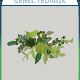 Yeşil Pullu Çiçek Aplike Dantel (Adet) ~
